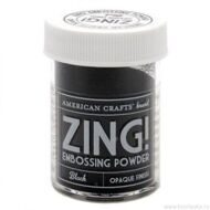 "Пудра для эмбоссинга матовая American crafts ""ZING"" , цвет черный  (28,4г)"